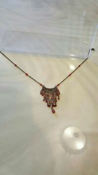 silver and red pendant necklace Fair Lawn, 07410