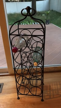 Cast iron wine rack 10 bottles