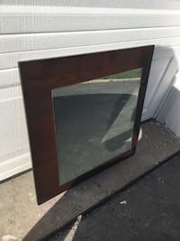 Square wooden framed wall mirror Oakville, L6M 2S3