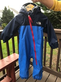 The North Face Infant One Piece Snowsuit Blue Bell