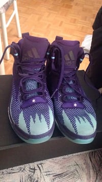Grey-and-purple Adidas high-top sneakers Toronto, M9N