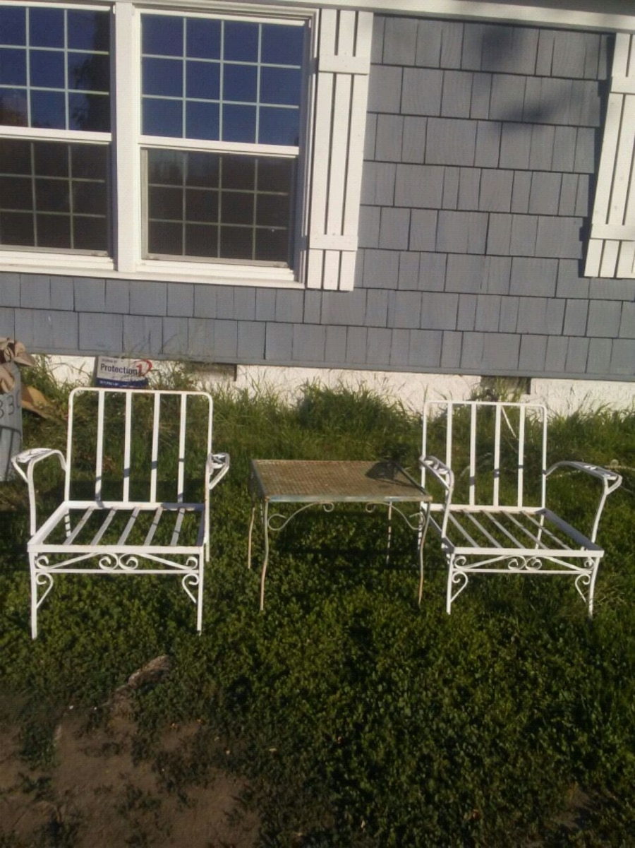 used heavy vintage wrought iron table chair set 60 for sale in rh us letgo com