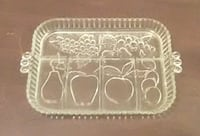Vintage Indiana Glass Serving Tray Danville, 40422