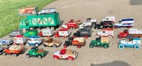 Toy metal trucks 5 ea. Or 50% off if you buy all 32 Indianola, 50125
