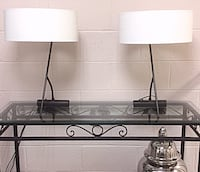 Two wrought iron base lamps with drum shades Ottawa, K1T 3Z1