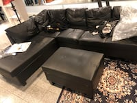 Large black sectional with storage ottoman North Potomac, 20878