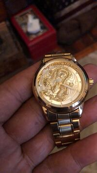 Designer watch with dragon face Albany, 12210