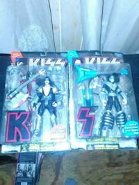 Two(2) KISS Actuion Figures By McFarlane Collectab Harris County, 31808