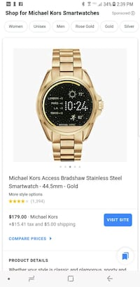 Michael Kors Smart Watch Brooklyn