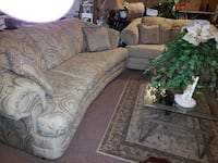 Floral fabric sofa set Scranton