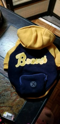 Braves Small dog coat with hood Gatineau, J8Z 1R5