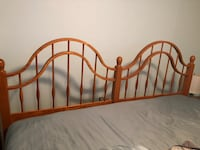 Brown wooden bed headboard King Size Cherry Hill, 08034