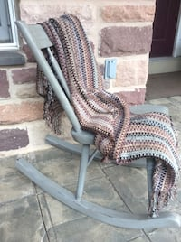 Arrow back rocking chair