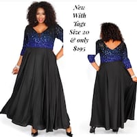 New With Tags Size 20 Formal Dress $195