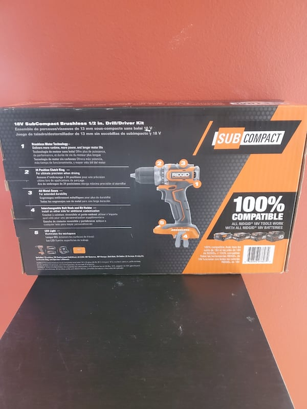 RIDGID 18-Volt Brushless SubCompact Cordless 1/2 in. Drill Driver Kit  cda07a9c-64ae-42bd-9c4a-d3b3788af890