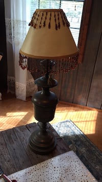 brown and beige table lamp Elm Grove
