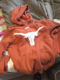 red and white pullover hoodie Austin, 78744