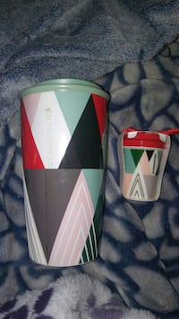 16oz ceramic tumbler with matching ornament