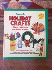 Easy to do holiday crafts book