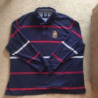 Blue and red long sleeve polo shrit North Vancouver, V7P
