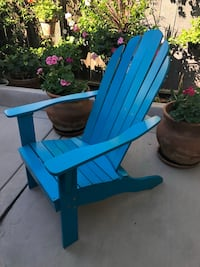 blue wooden rocking chair and table San Diego, 92129