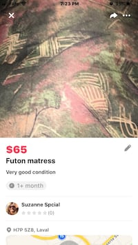 Futon mattress. $40 Drop price$ cover available extra $