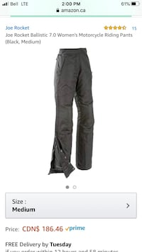 Joe Rocket Ballistic 7.0 Women's Motorcycle Riding Pants