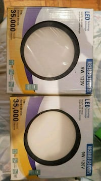 2 black led  pot lights with drivers. Barrie