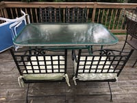 Wrought Iron Patio Set - 4 Chairs