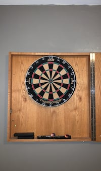 Dart Board Cork with Wood Case and Frame