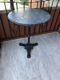 """Black marble bistro table, 29"""" tall and 24"""" width of the table Toronto, M1K 1C2"""