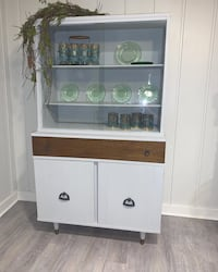 Restored mid century hutch- will deliver in the metro for free