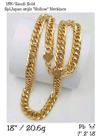 18k saudi gold necklace (heavy chains) Beltsville, 20705