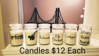 Custom Candles with Text Toronto, M1P 2Z2