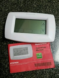 Thermostat touchscreen programmable