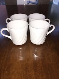 4 set of white mugs Ottawa, K1S 0X7