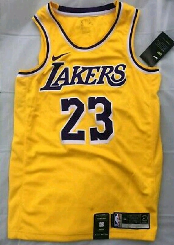 finest selection 9ab03 847d1 Lebron James L.A. LAKERS Jersey NIKE Men's Medium