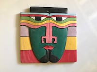 Hand wood painted tribal mask Naples, 34108
