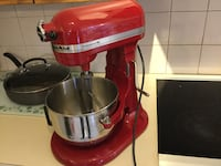 red and gray KitchenAid stand mixer Côte-Saint-Luc, H4W 2E3