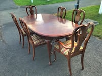 Dining table and six chairs Ashburn