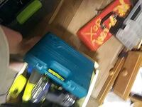 blue and black Bosch corded power tool 1465 mi