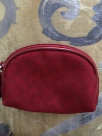 red zipped pouch