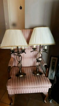 two black and white table lamps London, N6E 2W8