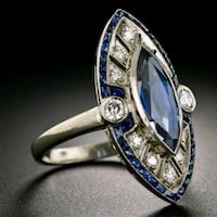 Size 8 blue sapphire ring Hedgesville