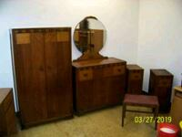 "5 PIECE VINTAGE ""WATERFALL"" BEDROOM SET Forest Hill, 21050"