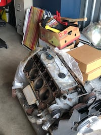 Chevy 4.8 LS engine and 862 polished heads. The intake manifold and throttle body were junk. I had planned to use this for a swap but went another direction. This is the LR4 iron block, great for boost or just a quick rebuild. $500.00 obo Annandale, 22003