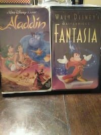 WALT DISNEY MASTERPIECE FANTASIA AND ALADDIN VHS