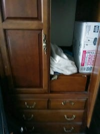 brown wooden cabinet with mirror Irving, 75062