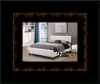 White platform bed with mattress and box all size District Heights, 20747