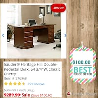 brown wooden desk with hutch Fort Washington, 20744